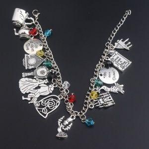 Beauty and the Beast Charm Bracelet NEW